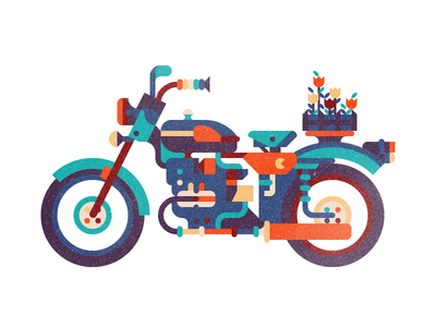 URAL motorcycle flower