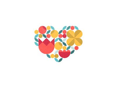 <3 flat sticker icon tulip day valentine flower heart