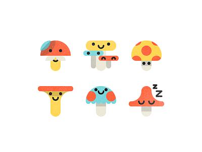 Mushrooms happy smile love mushroom