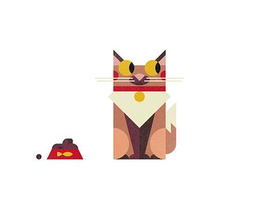 cat time illustration animal purpurpur cat