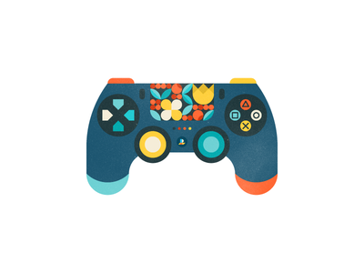 Gamepad flower playstation gamepad