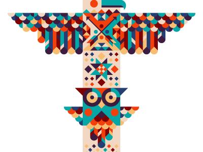 totem totem eagle owl native american