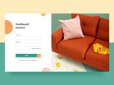 #explore33 - UI Design Login Dashboard FurtArt comfortable register ui  ux dashboard ui explore furniture login home web design dashboad webdesign uidesigner