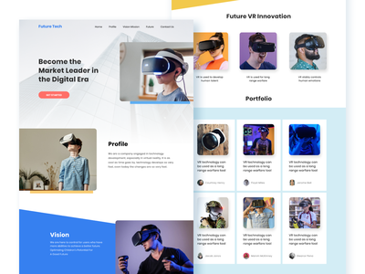 Future Tech Website Design ui design business holding corporate company branding leader innovation digital web design landing page vr techno future