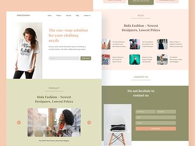 #explore36 - UI Design Hola Fashion Website uidesigner pastel color artwork clean graphic design branding style fashion ui design uiux web design dribbbble