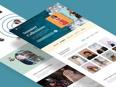 Bli.klambi - Ecommerce Summer Collections product design web design graphic design home page landing page fashion uiux ecommerce