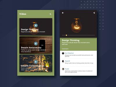 Tab Video Design App design video app design uiuxdesigner ui design uiux ui dribbbble