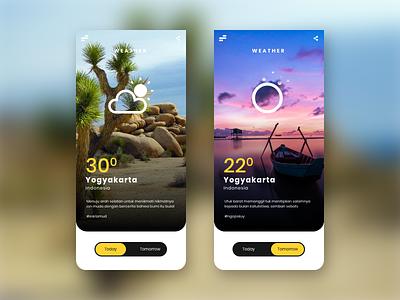 Weather UI Design App temperature celcius prototype weather uiuxdesigner uiux uxigers dribbbble