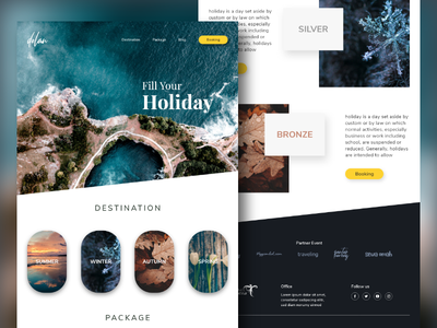 Dolan Landing Page Design Web webdesign xd season spring autumn winter summer website design dolan holiday traveling website dribbbble
