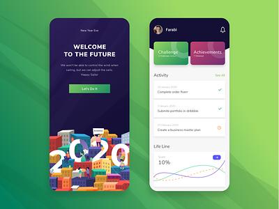 Home Page 2020 Design App appdesign welcome page uiuxdesigner futureform hope home 2020 artwork uxigers ui design uiux ui app design