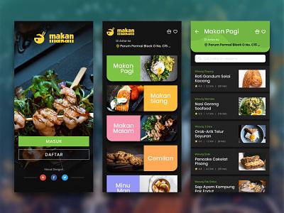 Makan Makan Design App food app mobile ui designapp breakfast launch dinner makanmakan uiuxdesign uiappmobile ui uxigers uiux uidesigner