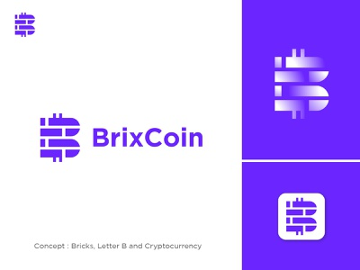 Letter B and Cryptocurrency b logo letter b icon app app design bricks coin cryptocurrency crypto logotype design simple brand design creative logo design logo brand logo brand branding