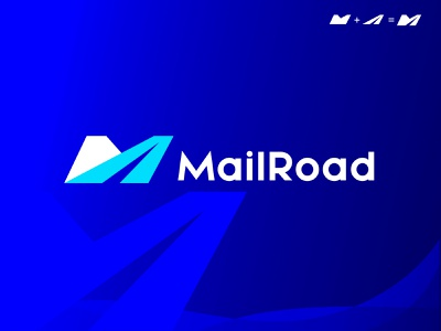 MailRoad Logo. monogram mark graphic design app logo app icon minimal popular letter m brand mark icon brand brand guide logo designer road mail branding logo logotype logo design brand design