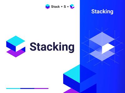 Stacking Logo. logotype popular vector mark identity symbol brand mark logo mark logo design brand design icon app logo monogram s logo letter s lettermark logo designer brand branding logo