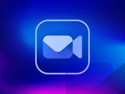 Video Mail Icon and Logo. app icon symbol new design popular logos identity logodesigner logodesign mark monogram letter camera mail video logotype brand brand guide branding logo