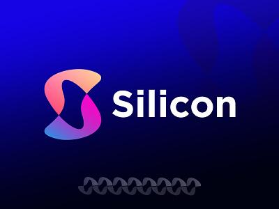 Silicon. icon popular modern agency brand guide identity logo mark logodesign brandmark letter s s logo lettermark blue app logo design simple brand design logotype branding logo