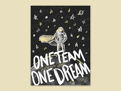 One Team One Dream procreate ipad apple pencil design illustration drawing