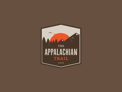 The Appalachian Trail branding appalachian trail illustration logo