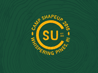 Camp ShapeUp drawing logo illustration design
