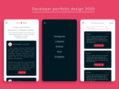 Portfolio design mobile landing page portfolio portfolio design mobile design ux web ui minimal design