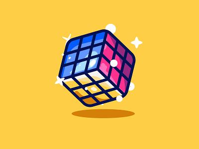 Cube Illustration uiux design icon set set flat art kids game cubes ux iconset puzzle illustration icon cube