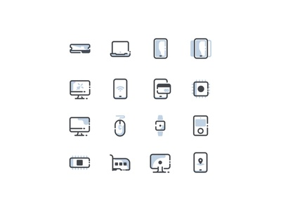 Device Icon Set art design ui illustration computer ux iconset icon set icon technology device