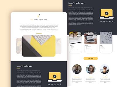 Nixx - Landing Page flat app presentation layout icon logo branding illustration ux ui design