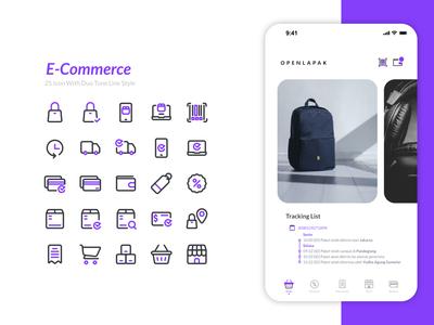E-Commerce logo icon set inspiration branding icon design ux ui iconset design icon