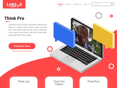 Lekovo ThinkPro inspriration minimal web app icon set icon design vector isometric illustration ux ui