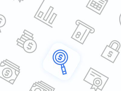 Finance Icon design logo set icon finance