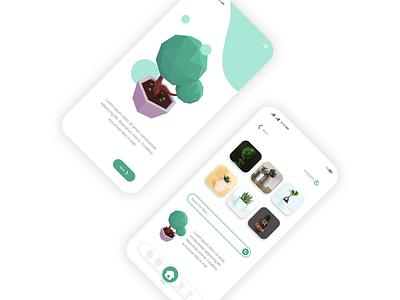 Plant App - UI Design Concept ux ui design