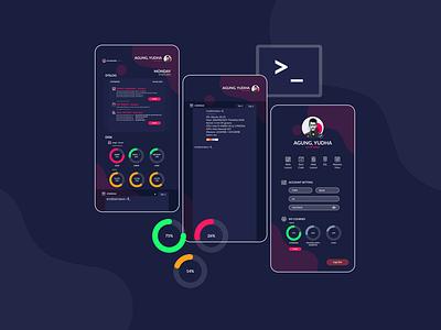 Server Monitoring UI Design application mobile ui design ux uiux ui ui ux