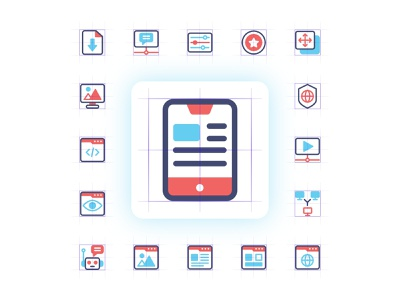 SEO ICON PROJECT vector icon set seo business logo icon flat filled design company outline character iconset trend modern branding ui ux app