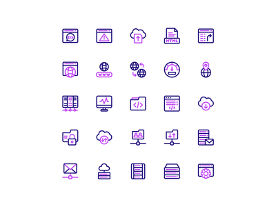 Internet Icon Set palette color