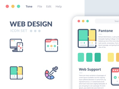 WEB DESIGN ICON SET illustration web design application ui ui ux branding modern trend iconset character outline company design filled flat logoicon graphicdesign seo icon set vector