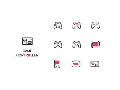 Game Controller icon set inspiration design controller game iconset monoline iconday line icon