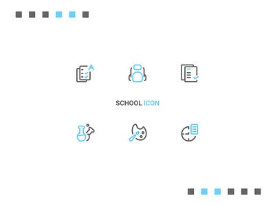 School Icon school outline ux line system icon button ui design ui icon design iconography icon set icon