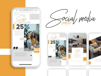 Social Media Template ux ui logo concept inspiration design template presentation mockup instagram media social