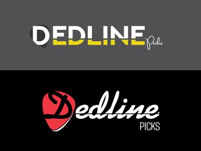 Dedline Picks guitar music picks design logo design