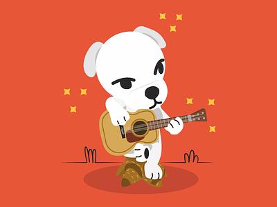KK Slider art illustration dog kk animals animal crossing