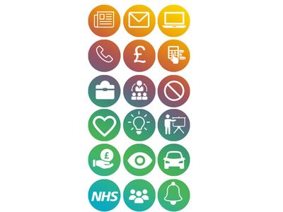 Icon designs for Bridgewater Staff App