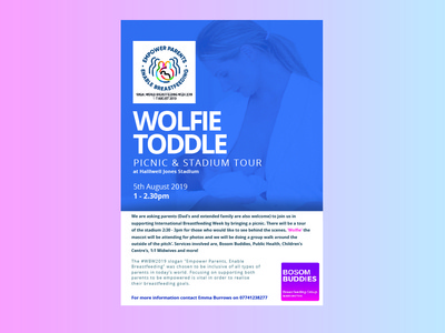 Wolfie Toddle Poster Design