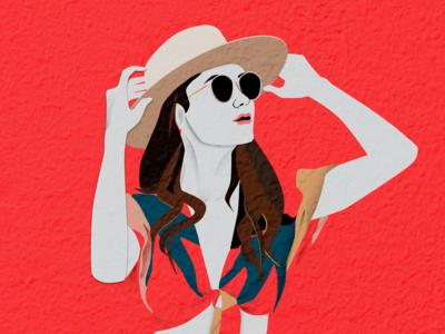 Colorful Illustration - summer look