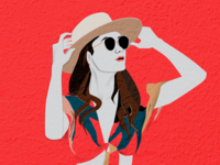 Colorful Illustration - summer look