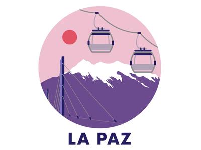 La Paz - Cable car gif