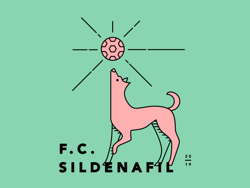 2019 Team Graphic red green illustration league soccer logo dog team soccer