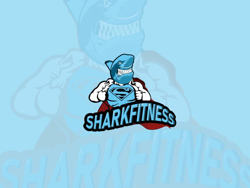 Sharkfitness vector art creative design logo logodesign mascot