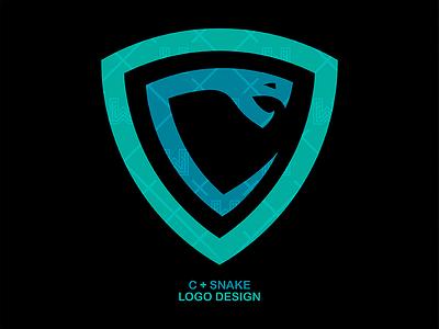 C + SNAKE LOGO DESIGN clean exploration branding letter c snake minimal simple logo
