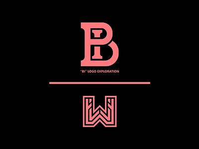 """BI"" Logo Exploration // by WisamPlayz simple minimal logo letters exploration bi clean branding"
