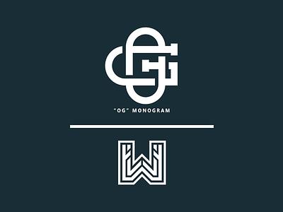 """OG"" Monogram // by WisamPlayz simple minimal logo letters exploration clean branding monogram og"